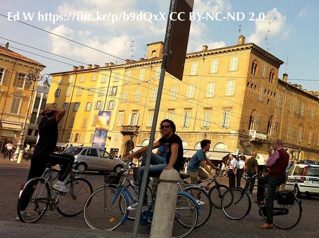 Piazza Garibaldi con biciclette